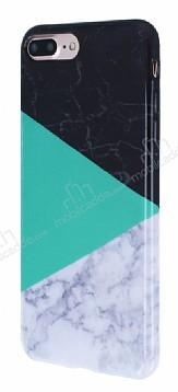 iPhone 7 Plus Granit Görünümlü Yeşil Silikon Kılıf