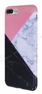 iPhone 7 Plus Granit Görünümlü Pembe Silikon Kılıf