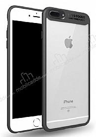 Eiroo Cam Hybrid iPhone 7 Plus Kamera Korumalı Siyah Kenarlı Rubber Kılıf