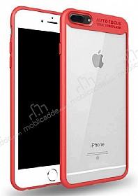 Eiroo iPhone 7 Plus /8 Plus Kamera Korumalı Kırmızı Kenarlı Rubber Kılıf
