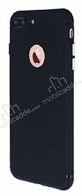 iPhone 7 Plus Metal Tuşlu Mat Siyah Silikon Kılıf