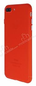 iPhone 7 Plus / 8 Plus Metal Tuşlu Mat Kırmızı Silikon Kılıf