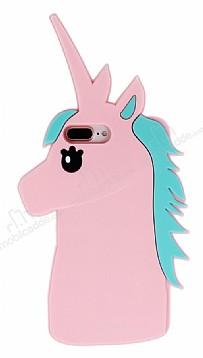 iPhone 7 Plus Unicorn Pembe Silikon Kılıf