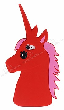 iPhone 7 Unicorn Kırmızı Silikon Kılıf