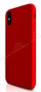iPhone X Mat Kırmızı Silikon Kılıf