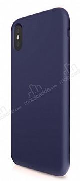 iPhone X Mat Lacivert Silikon Kılıf