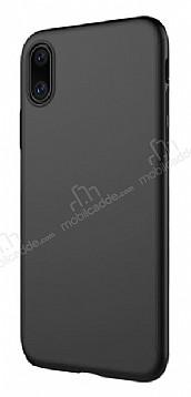 Dafoni Membrane iPhone X Ultra İnce Mat Siyah Silikon Kılıf