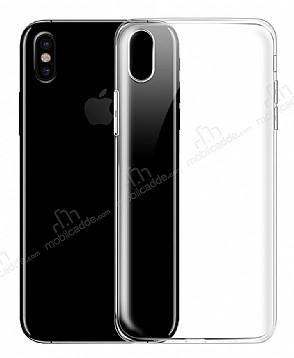 iPhone X Ultra İnce Şeffaf Silikon Kılıf