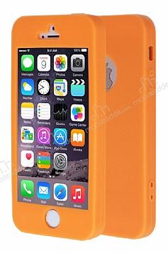 iPhone SE / 5 / 5S 360 Derece Koruma Likit Turuncu Silikon Kılıf