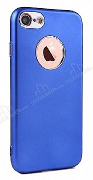 iPhone SE / 5 / 5S Metal Kamera Korumalı Lacivert Silikon Kılıf