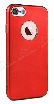 iPhone SE / 5 / 5S Metal Kamera Korumalı Kırmızı Silikon Kılıf