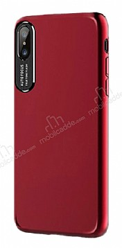 Dafoni Shade iPhone X / XS Kamera Korumalı Kırmızı Rubber Kılıf