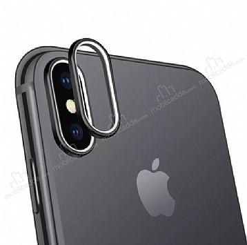 iPhone X Siyah Kamera Lensi Koruyucu