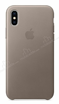 iPhone X Orjinal Taupe Deri Kılıf