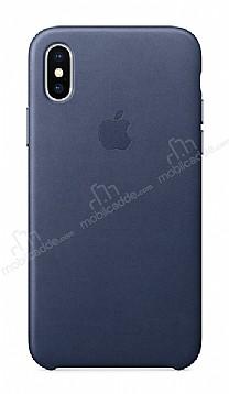 iPhone X Orjinal Midnight Blue Silikon Kılıf
