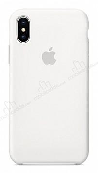 iPhone X / XS Orjinal Beyaz Silikon Kılıf