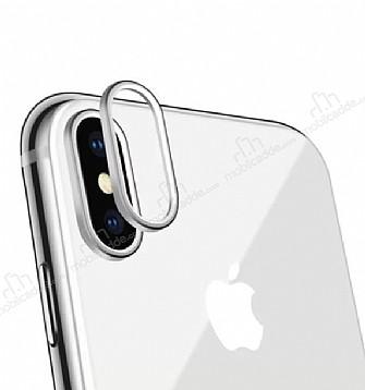 iPhone X Silver Kamera Lensi Koruyucu