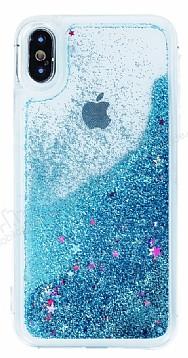 iPhone X Sulu Mavi Rubber Kılıf