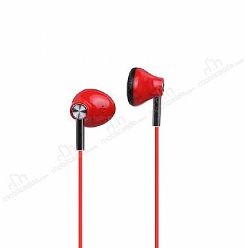Ivon Mikrofonlu Kulakiçi Kırmızı Kulaklık