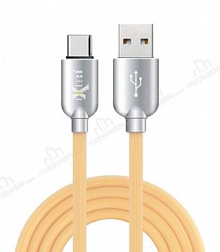 iXtech IX-08 USB Type-C Sarı Hızlı Şarj ve Data Kablosu 1m