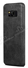 Jasean Samsung Galaxy S8 Deri Siyah Rubber Kılıf