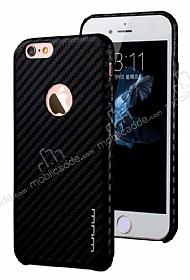 JLW iPhone 6 / 6S Karbon Siyah Rubber Kılıf