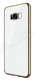 Joyroom Baikal Samsung Galaxy S8 Plus Gold Kenarlı Silikon Kılıf