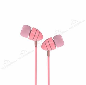 Joyroom EL112 Mikrofonlu Kulakiçi Pembe Kulaklık