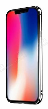Joyroom Epic iPhone X / XS Metal Bumper Çerçeve Silver Kılıf