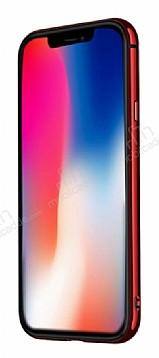 Joyroom Epic iPhone X / XS Metal Bumper Çerçeve Kırmızı Kılıf