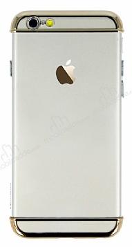 Joyroom iPhone 6 / 6S Gold Kenarlı Şeffaf Rubber Kılıf