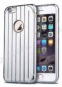 Joyroom Traveler iPhone 6 / 6S Metalik Silver Silikon K�l�f