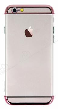 Joyroom iPhone 6 Plus / 6S Plus Rose Gold Kenarlı Şeffaf Rubber Kılıf