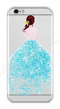 Joyroom iPhone 6 Plus / 6S Plus Kız Taşlı Mavi Silikon Kılıf