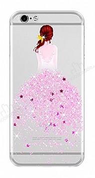 Joyroom iPhone 7 / 8 Kız Taşlı Pembe Silikon Kılıf