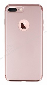 Joyroom iPhone 7 Plus 3 in 1 Rose Gold Rubber Kılıf