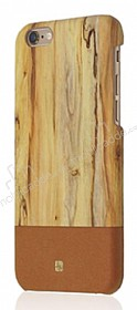 Just Must Wooden iPhone 6 / 6S Kahverengi Ah�ap Rubber K�l�f