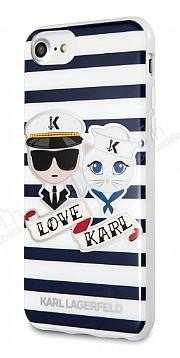 Karl Lagerfeld iPhone 7 / 8 Çizgilii Silikon Kılıf