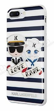 Karl Lagerfeld iPhone 7 Plus / 8 Plus Çizgili Silikon Kılıf