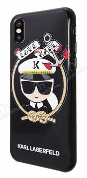 Karl Lagerfeld iPhone X / XS Siyah Silikon Kılıf