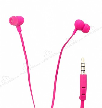 Karler Bass KR-203 Pembe Mikrofonlu Kulakiçi Kulaklık