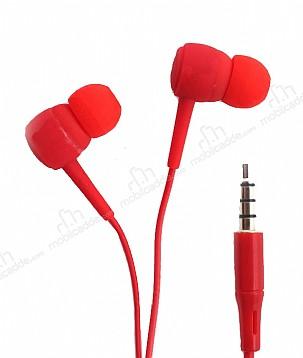 Karler Bass KR-205 Kırmızı Mikrofonlu Kulakiçi Kulaklık