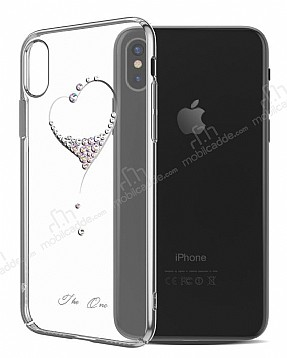 Kingxbar iPhone X Kalpli Silver Taşlı Kristal Kılıf