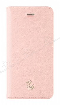 La Vie Fashion Folio iPhone X Soft Pink Kılıf