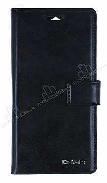 Eiroo Lenovo K5 Note Cüzdanlı Yan Kapaklı Siyah Deri Kılıf