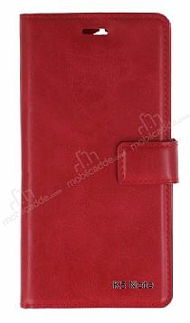 Eiroo Lenovo K5 Note Cüzdanlı Yan Kapaklı Kırmızı Deri Kılıf