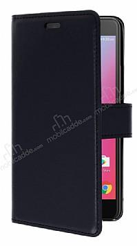 Lenovo K6 Note Cüzdanlı Yan Kapaklı Siyah Deri Kılıf