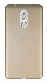 Lenovo K6 Note Tam Kenar Koruma Gold Rubber Kılıf