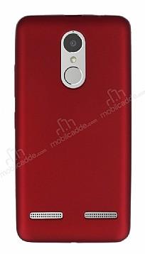 Lenovo K6 Power Mat Kırmızı Silikon Kılıf