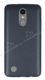 LG K8 2017 Tam Kenar Koruma Dark Silver Rubber Kılıf